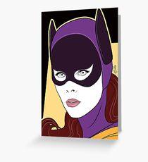 60s Bat Girl - Nagel Style Greeting Card