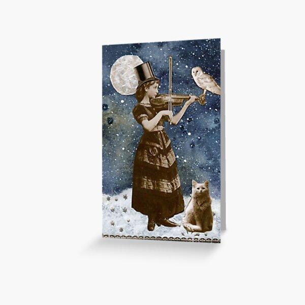 Snowfall Serenade Greeting Card