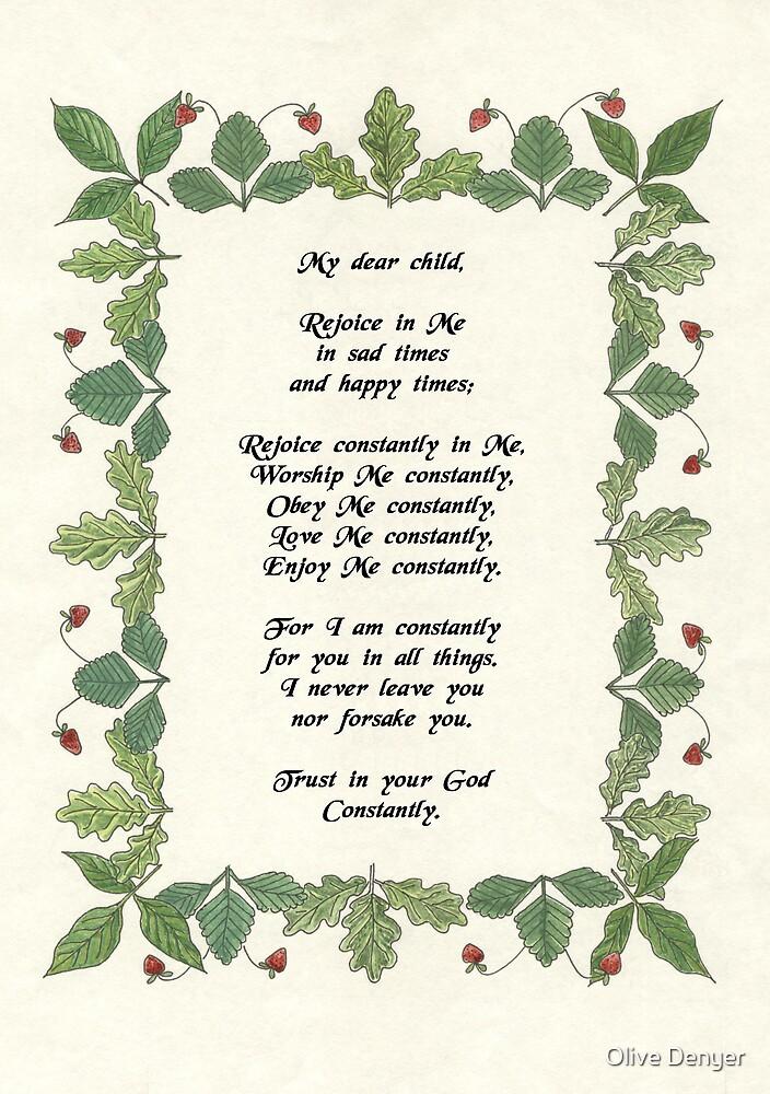 Rejoice in Me by Olive Denyer