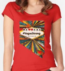 We are #VegasStrong Women's Fitted Scoop T-Shirt