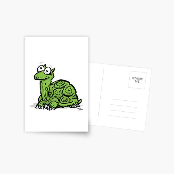 CORNIBUS SCHILDKRÖTE FARBIG Postkarte