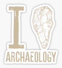 I love archaeology Sticker