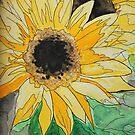 Sunflowers - Acrylic Ink by AlisonJoy