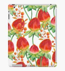 Watercolor hand painted red orange yellow tulip flowers iPad Case/Skin