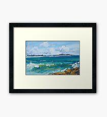 Bartletts Beach 2 - plein air Framed Print