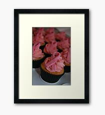 Pink Breast Cancer Awareness Cupcakes Framed Print