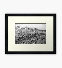 My pencil drawing of The Last of the British Rail Steam Locomotives Framed Print