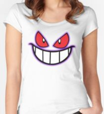 Gengar Monster Purple Pokeball Women's Fitted Scoop T-Shirt