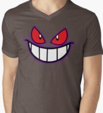 Gengar Monster Purple Pokeball Men's V-Neck T-Shirt