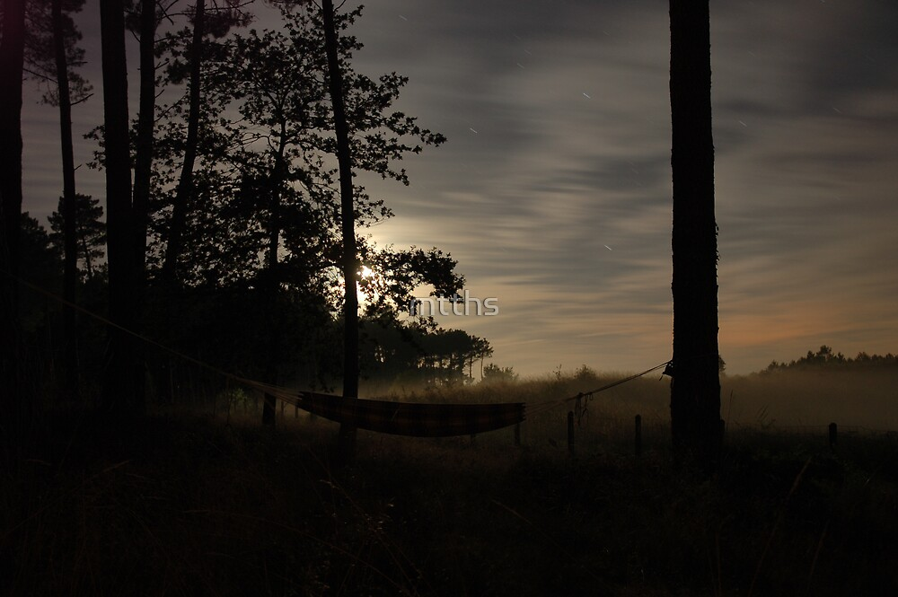 hammock at misty night by mtths