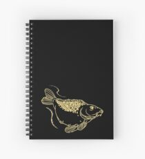 Carp Fishing Angling Fish Scales Illustration Spiral Notebook