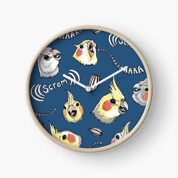 Cockatiel Screm Clock