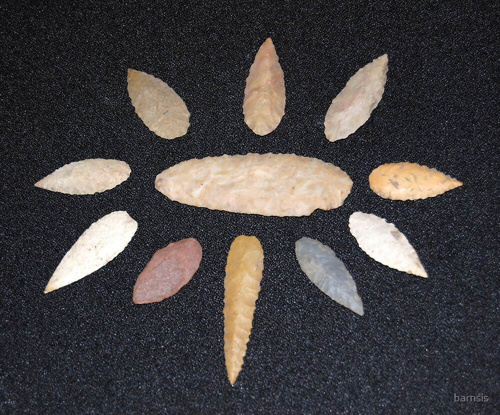Nodena or Willow leaf Arrow Heads by barnsis
