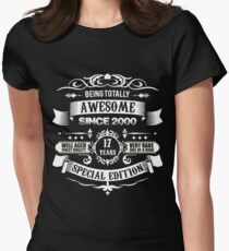 Awesome Since 2000 17th Birthday 17 Years Old Women's Fitted T-Shirt