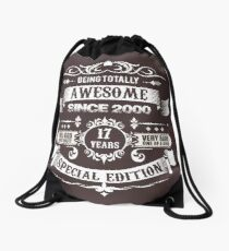 Awesome Since 2000 17th Birthday 17 Years Old Drawstring Bag
