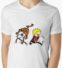 AdventureTime_Calvin&Hobbes Men's V-Neck T-Shirt