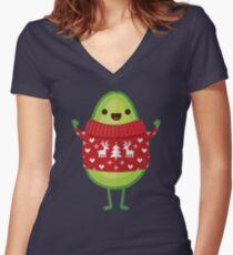 Avo Merry Christmas! Women's Fitted V-Neck T-Shirt