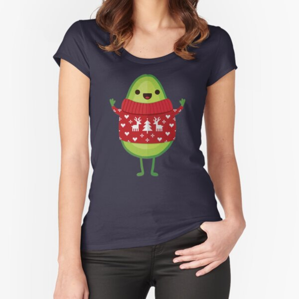 Avo Merry Christmas! Fitted Scoop T-Shirt