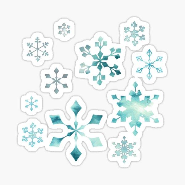 Snowflake Crystals on White Sticker