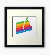 Pear Apple Parody Funny Retro Framed Print