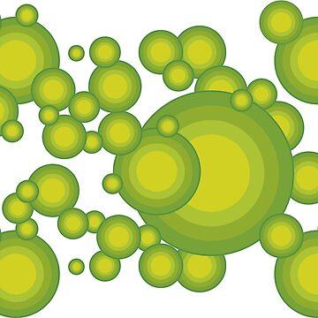 Grüne Kreise im 70er Jahre Stil von pASob-dESIGN