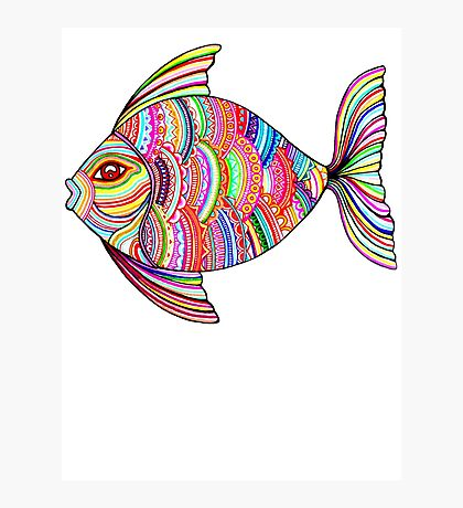 Psychedelic Fish Photographic Print
