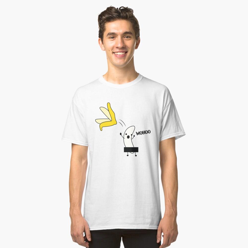 Regalo Naked Banana para Veganos Camiseta clásica