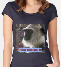 I THINK THEREFORE I AM Women's Fitted Scoop T-Shirt