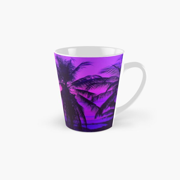 Pink Palm Trees by the Indian Ocean Tall Mug