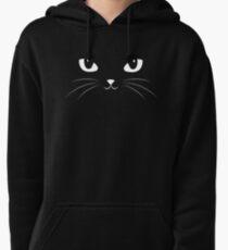 Cute Black Cat Pullover Hoodie