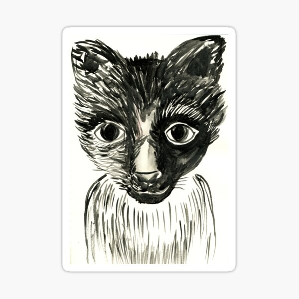 Akira the cat Sticker