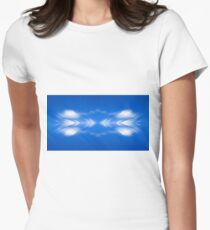 Clouds mirror blue sky  Women's Fitted T-Shirt