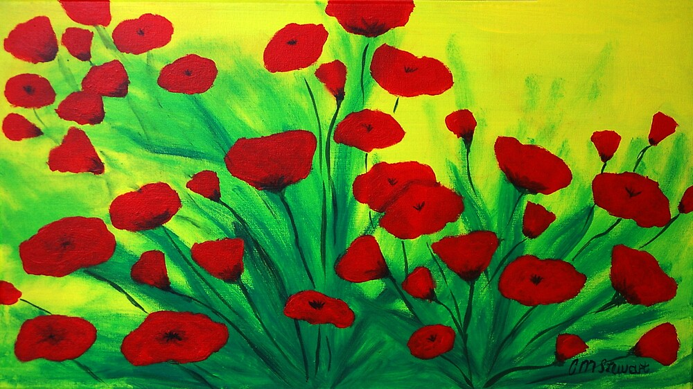 red poppies by Colleen Stewart