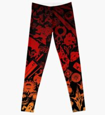 Final Fantasy Moogle-verse (red) Leggings