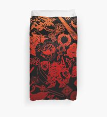 Final Fantasy Moogle-verse (red) Duvet Cover