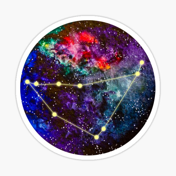 Capricorn Astrological Sign Galaxy Vinyl Sticker Decal Glossy Finish NEW