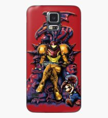 Funda/vinilo para Samsung Galaxy Metroid - The Huntress Throne (con Mario)
