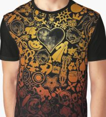 Kingdom Hearts - Keyhole (orange) Graphic T-Shirt