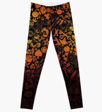 Kingdom Hearts - Keyhole (orange) Leggings