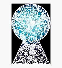 Kingdom Hearts - Keyhole (blue) Photographic Print
