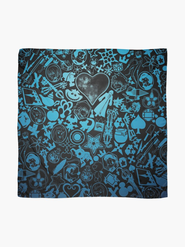 Alternate view of Kingdom Hearts - Keyhole (blue) Scarf