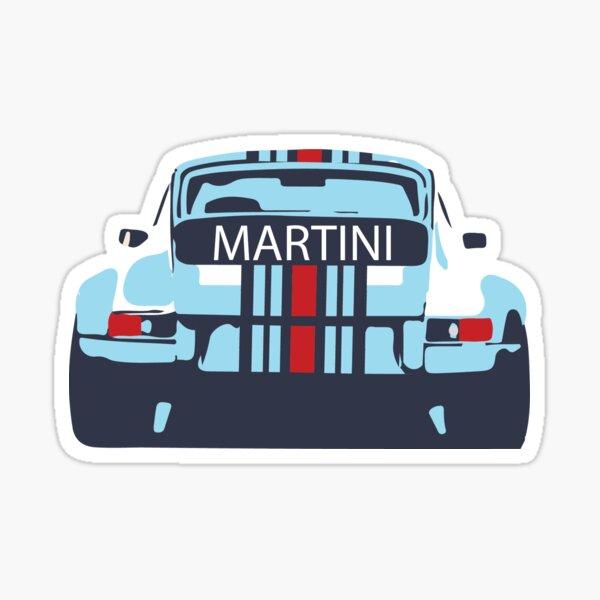 Porsche 911 classic Martini Sticker