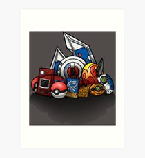 Anime Monsters Art Print
