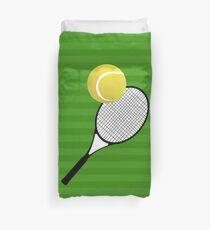 Tennis Ball Tennis Racket Duvet Cover