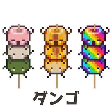 Multiple Pixel Dango ダンゴ Mens Premium T Shirt By Latannia