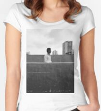 Half & Half Women's Fitted Scoop T-Shirt