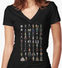 Buffy - Mini Monsters - The High School Years Women's Fitted V-Neck T-Shirt