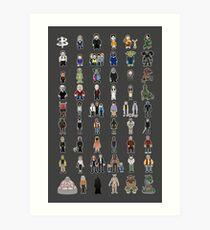 Buffy - Mini Monsters - The High School Years Art Print