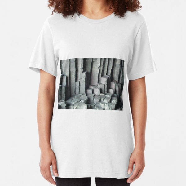Basalt Columns with unusual colouring Slim Fit T-Shirt