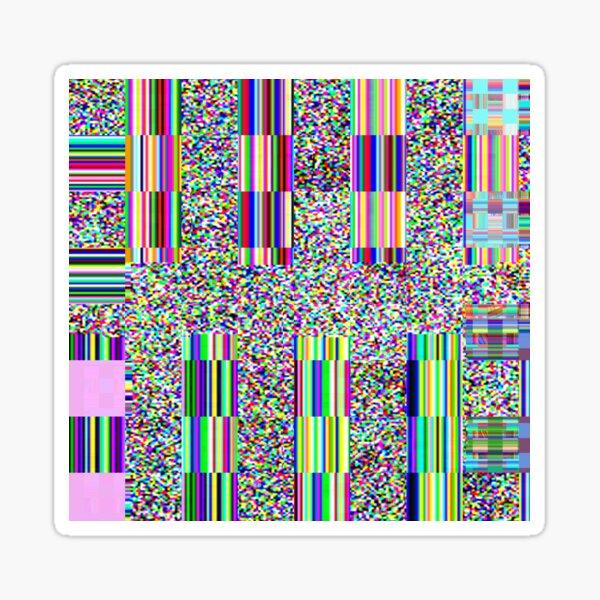 Glitch effect psychedelic background Sticker